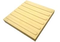 Тактильная плитка желтая навигационная прямая