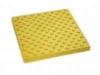 Тактильная плитка 500х500х50 рифы конусные